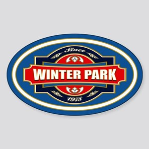 Winter Park Old Label Sticker (Oval)