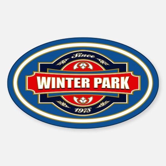 Winter Park Old Label Sticker (Oval)