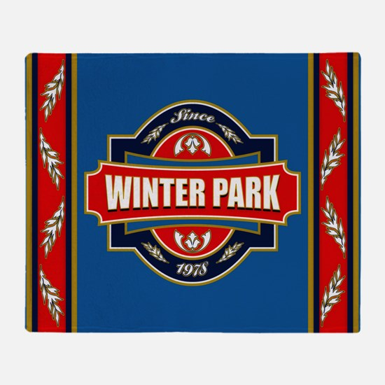 Winter Park Old Label Throw Blanket