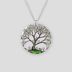Bull Terriers Necklace Circle Charm