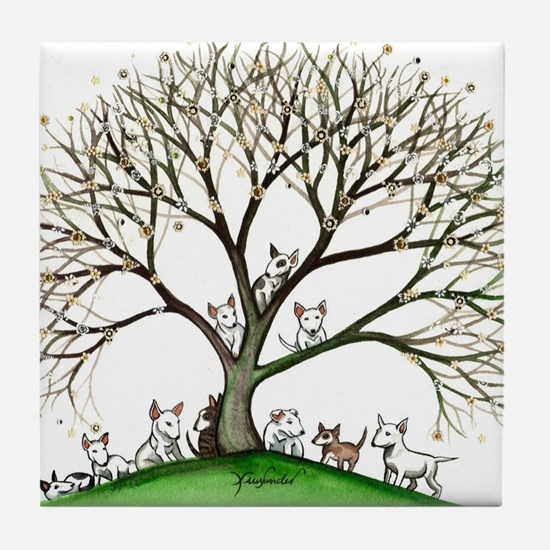 Bull Terriers Tile Coaster