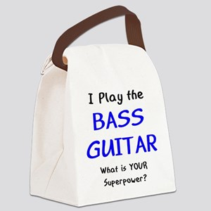 play bass guitar Canvas Lunch Bag