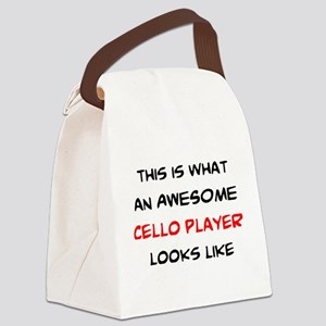 awesome cello player Canvas Lunch Bag