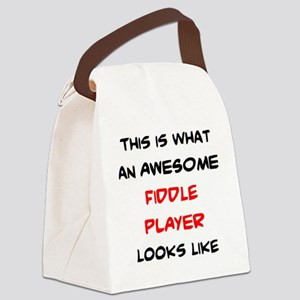 awesome fiddle player Canvas Lunch Bag