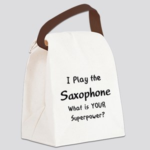 play saxophone Canvas Lunch Bag