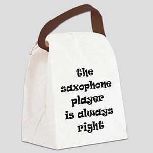 saxophone always right Canvas Lunch Bag