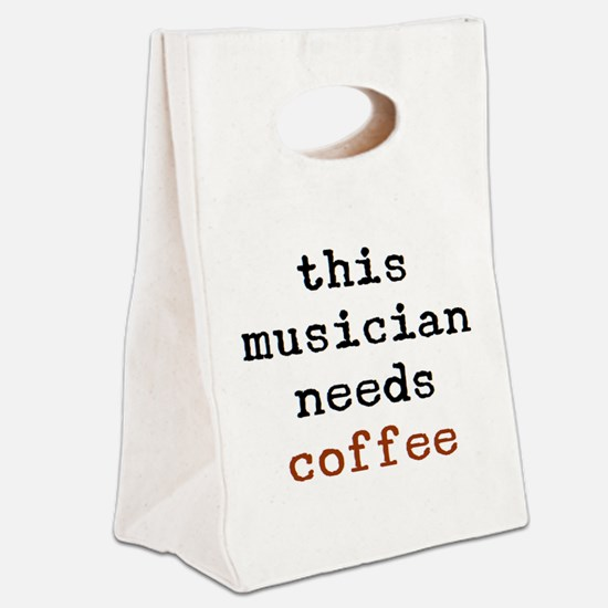 musician needs coffee Canvas Lunch Tote