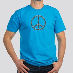 Peace Chain Men's Fitted T-Shirt (dark)