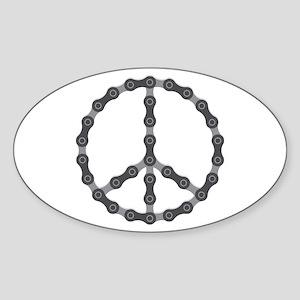 Peace Chain Sticker (Oval)