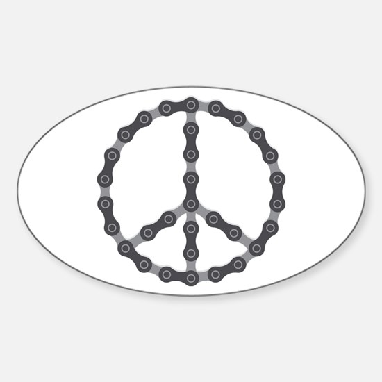 Peace Chain Sticker (Oval)