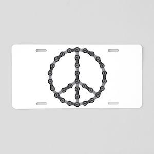 Peace Chain Aluminum License Plate