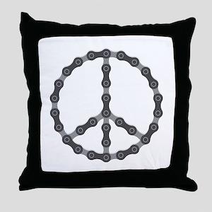 Peace Chain Throw Pillow