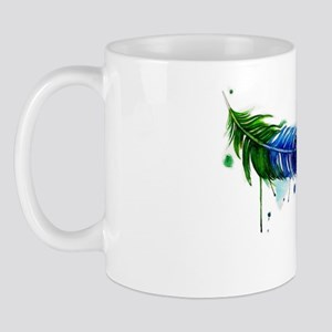 Watercolor Feather Mug