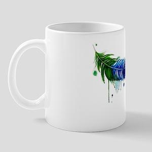 Watercolor Feather Mug