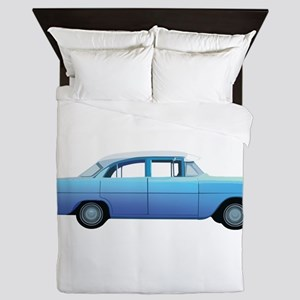 Old School Car Queen Duvet