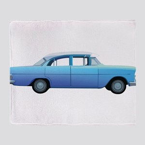 Old School Car Throw Blanket