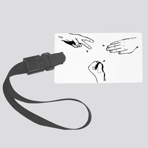 Rock Paper Scissors Luggage Tag