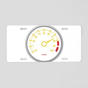 Tachometer Aluminum License Plate