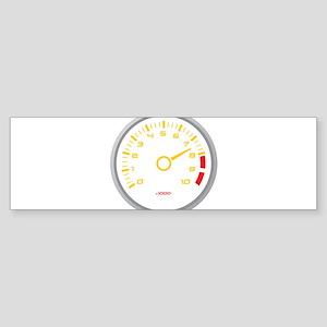 Tachometer Bumper Sticker
