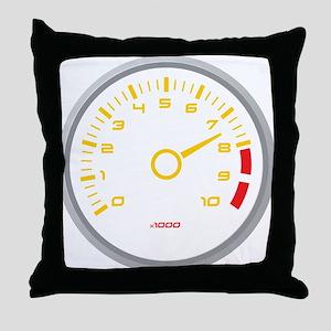 Tachometer Throw Pillow