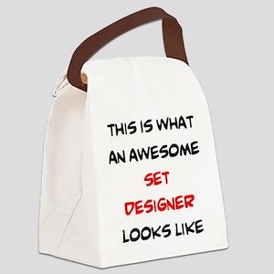 awesome set designer Canvas Lunch Bag