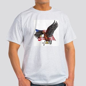 USA Eagle with Cross Light T-Shirt