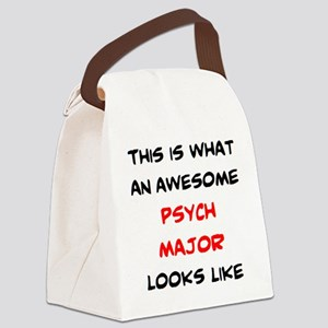 awesome psych major Canvas Lunch Bag