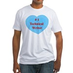 #1 Technical Writer Fitted T-Shirt