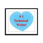 #1 Technical Writer Framed Panel Print