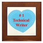 #1 Technical Writer Framed Tile