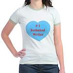 #1 Technical Writer Jr. Ringer T-Shirt