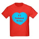 #1 Technical Writer Kids Dark T-Shirt