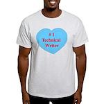 #1 Technical Writer Light T-Shirt