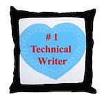 #1 Technical Writer Throw Pillow
