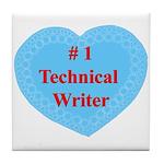#1 Technical Writer Tile Coaster