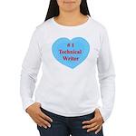 #1 Technical Writer Women's Long Sleeve T-Shirt
