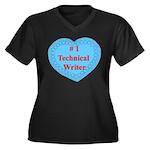 #1 Technical Writer Women's Plus Size V-Neck Dark