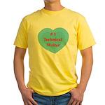 #1 Technical Writer Yellow T-Shirt