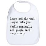 Laugh, Cackle Maniacally Funny Bib