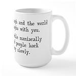 Laugh, Cackle Maniacally Funny Large Mug