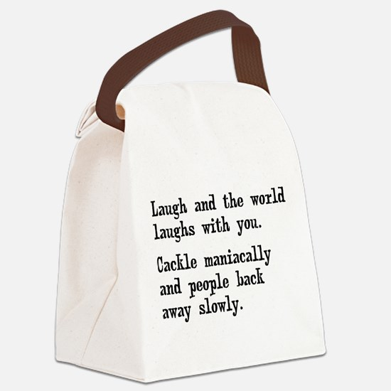 Laugh, Cackle Maniacally Funny Canvas Lunch Bag