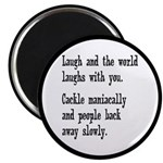 Laugh, Cackle Maniacally Funny Magnet