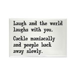 Laugh, Cackle Maniacally Funny Rectangle Magnet