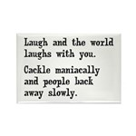 Laugh, Cackle Maniacally Funny Rectangle Magnet (1