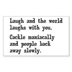 Laugh, Cackle Maniacally Funny Sticker (Rectangle)