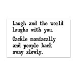 Laugh, Cackle Maniacally Funny 20x12 Wall Decal