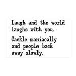 Laugh, Cackle Maniacally Funny 35x21 Wall Decal
