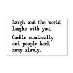 Laugh, Cackle Maniacally Funny Car Magnet 20 x 12