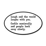 Laugh, Cackle Maniacally Funny 20x12 Oval Wall Dec