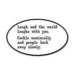 Laugh, Cackle Maniacally Funny 35x21 Oval Wall Dec